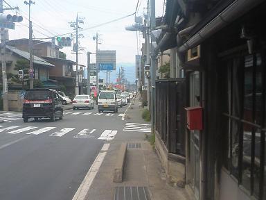 須坂駅南交差点の渋滞状況