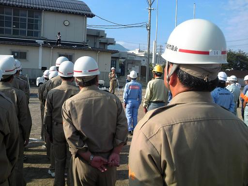 H26須坂市総合防災訓練終了式