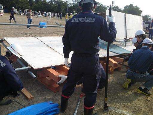 須坂市総合防災 救出訓練