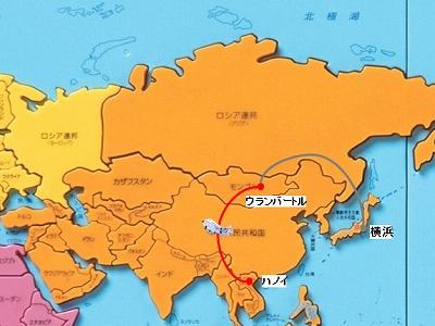 自転車切手で世界旅行 モンゴルからベトナムへ