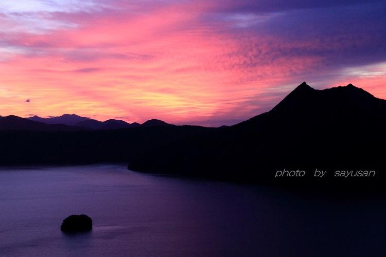 朝焼けの摩周湖