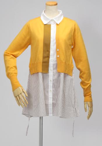mur,e coeur・ミュールクールのカーディガンを羽織ったようなシャツチュニック