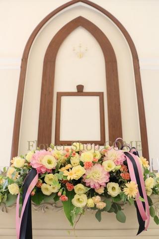 秋 結婚式 花 リボン