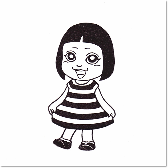 テラピィの乙女はんこ☆きせかえサキ ボーダー編♪の巻