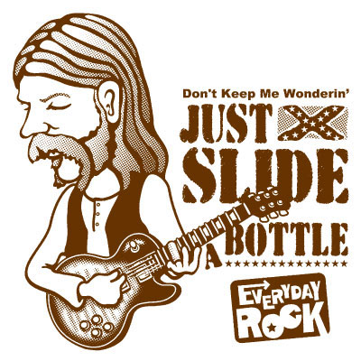 EverydayRock T Shirt Duane Allman Allman Brothers Band caricature