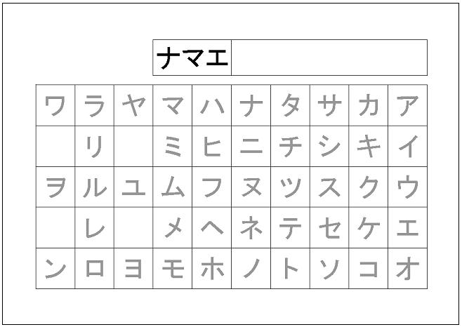 漢字 漢字練習帳テンプレート : カタカナ練習帳テンプレート