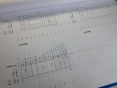 縁の家 軸組図