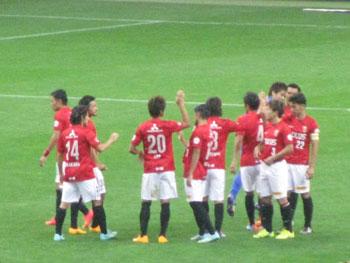 浦和 対 柏 スタジアムに響く勝利の「We are Reds!」
