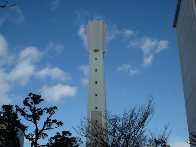 公団国分団地給水塔の緑色部分