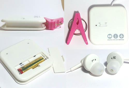 キングジム製デジタル耳せん各部の写真