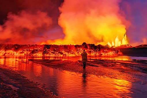 アイスランドの火山活動
