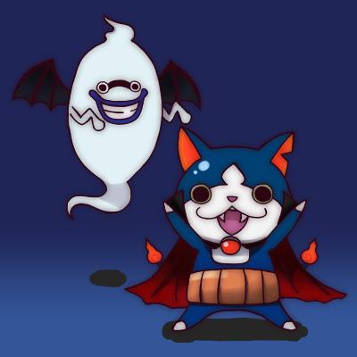 ネコがじんg 妖怪ウォッチ お絵描き ハロウィン ガブニャンとウィスパー
