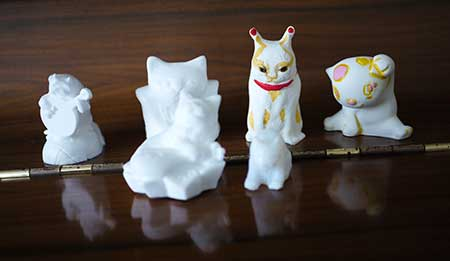 KAYiさんの猫さん達のフィギュア