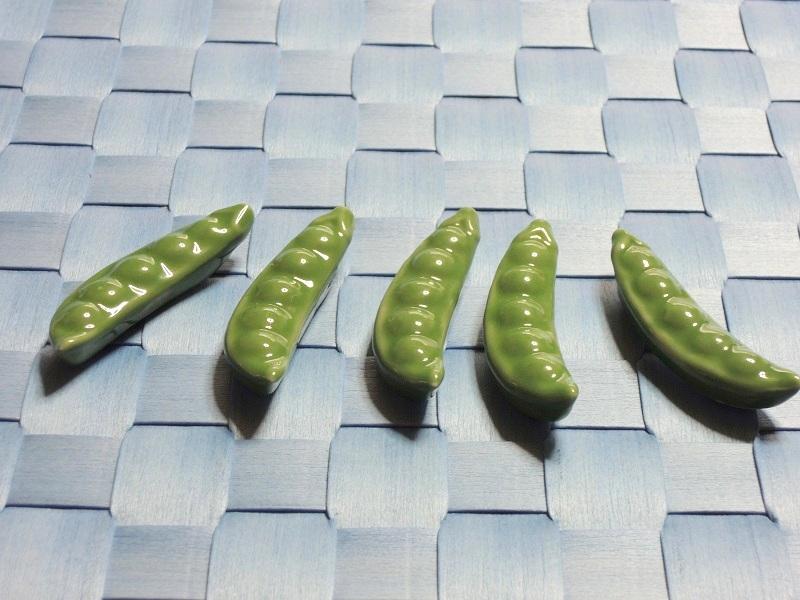 枝豆のお箸置き 五個整列