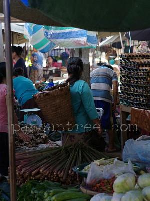 ラオスの市場