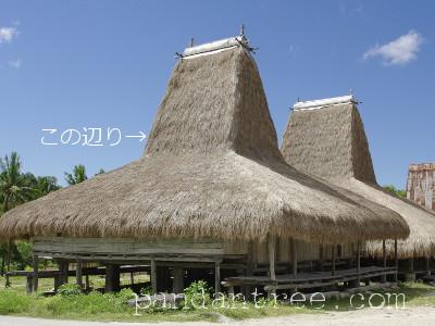 スンバ島の伝統家屋