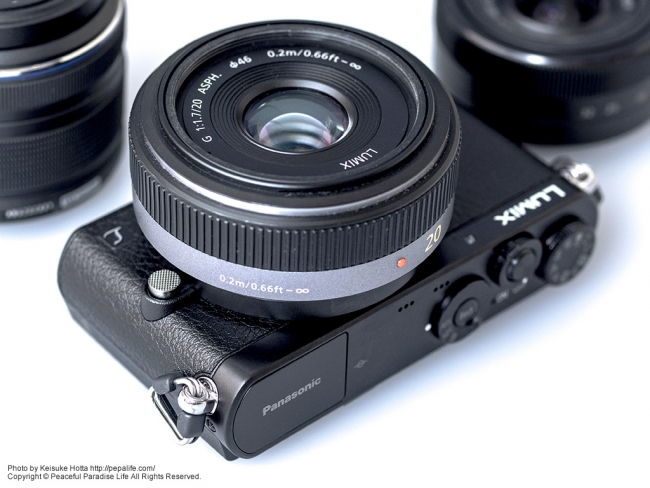 Panasonic LUMIX GM (DMC-GM1K)に LUMIX G 20mm F1.7 ASPH.
