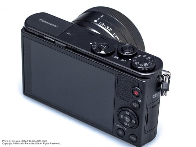 Panasonic LUMIX GM (DMC-GM1K) 斜め上から背面