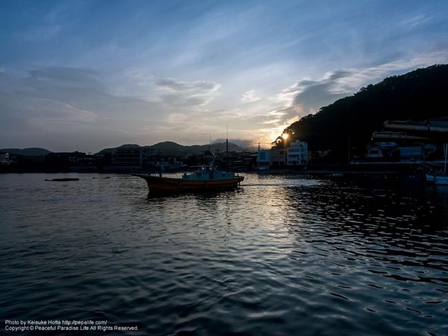 葉山 芝崎港の日の出