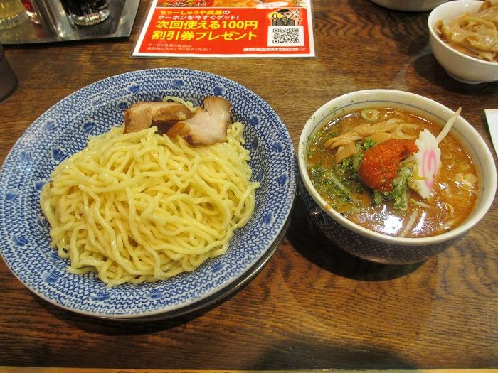 ちゃーしゅうや武蔵亀田 カラシ味噌つけ麺 (2)