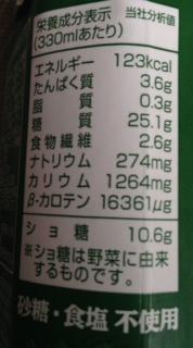 有機野菜ジュースカロリー