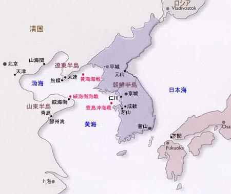 日清戦争地図