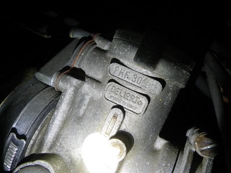 パンタ350のキャブ (2)