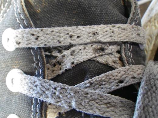 溶接すると靴が