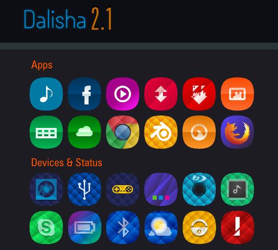 Dalisha Ubuntu アイコン サンプル