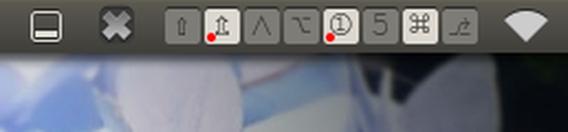 indicator-xkbmod Ubuntu パネル キーボードの状態を表示
